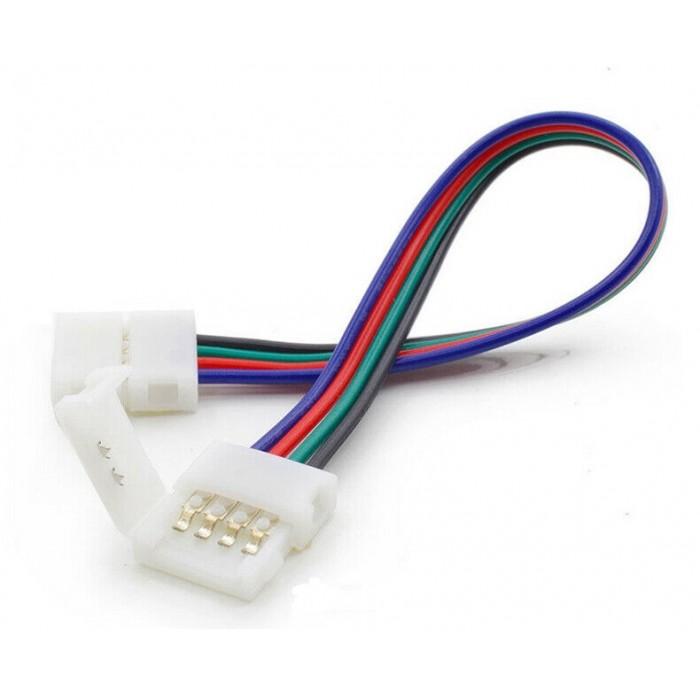 Clema+cablu+clema conector banda LED RGB