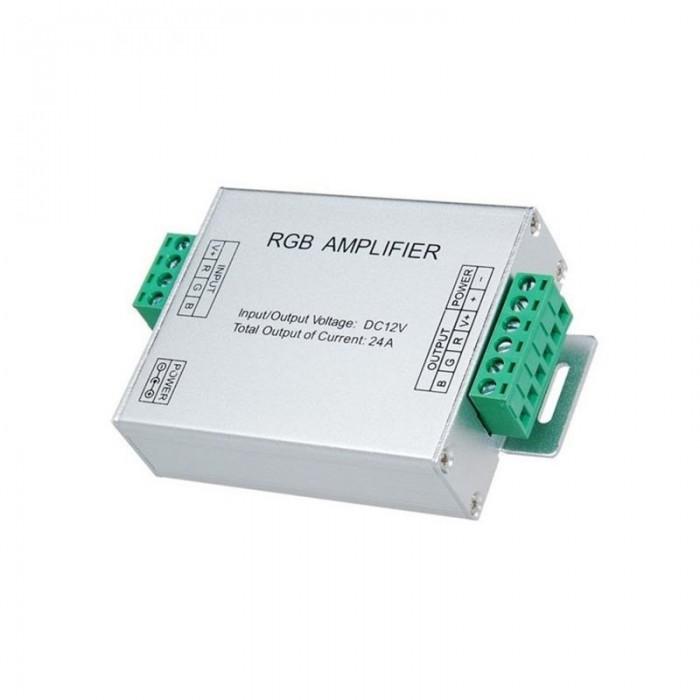 Amplificator banda LED RGB, 12V, 144W, 24A