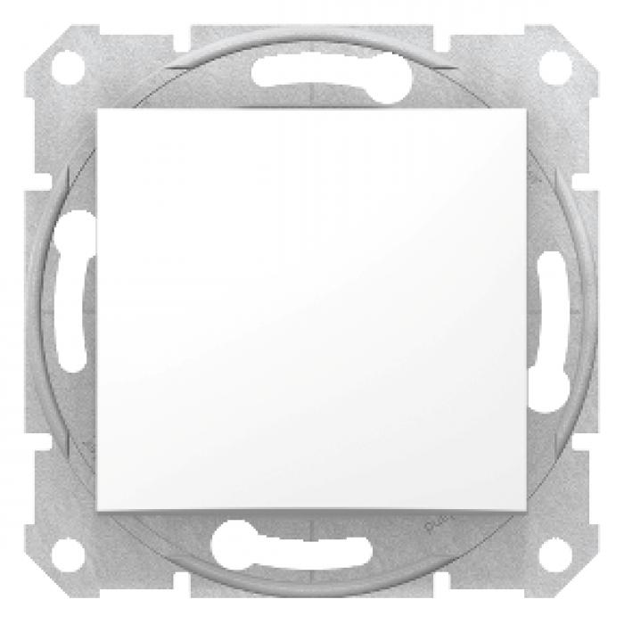 Intrerupator simplu alb Sedna Schneider SDN0100121  -1 modul