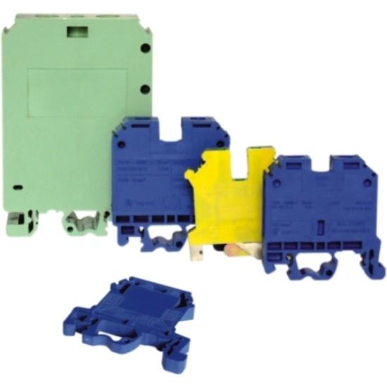 Clema sir 35mmp cu impamantare, galben-verde -  MF0013-00610