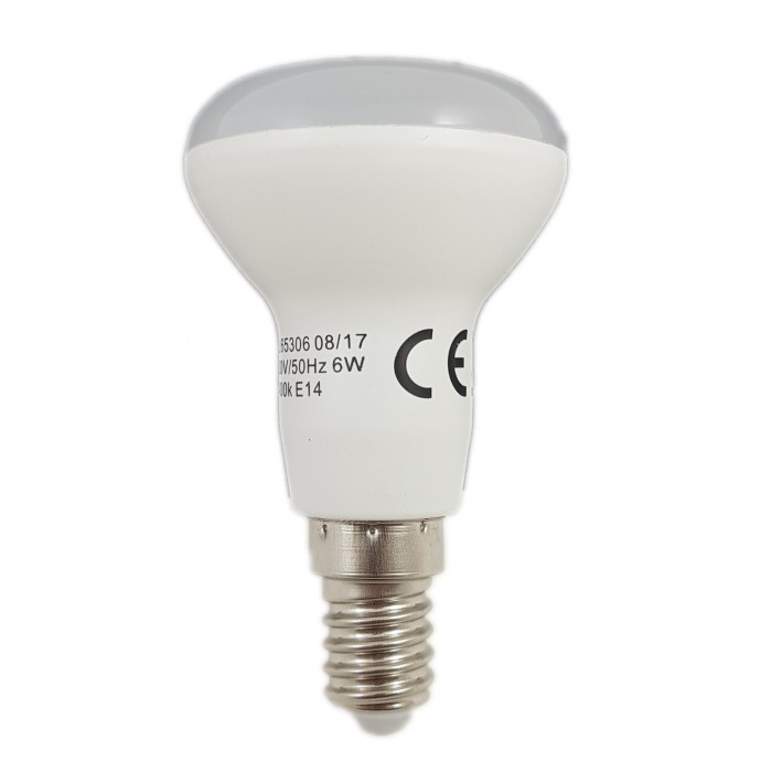 Bec Led E14, model R50, 6W=50W, 2700K, lumina calda