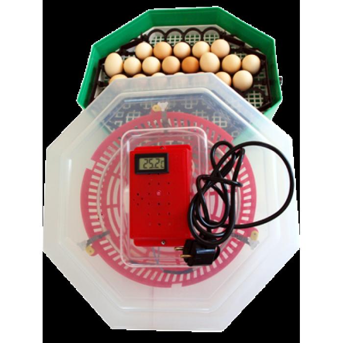 Incubator Cleo cu termometru si dispozitiv de intoarcere a oualor. Capacitate 41 de oua de gaina