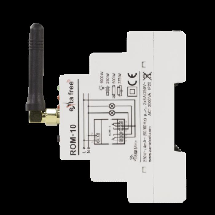 Receiver modular radio, 2 canale, Zamel ROM-10