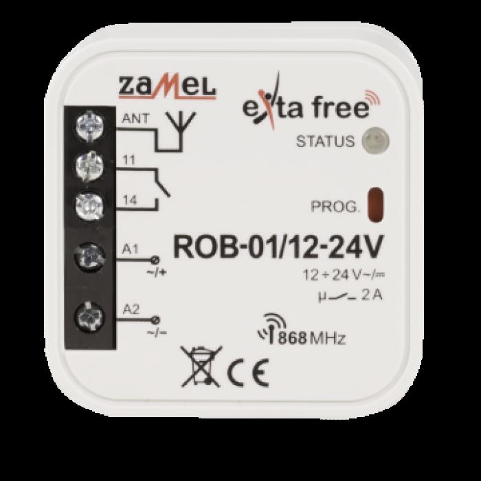 Receiver radio pentru usa garaj 12-24V, Zamel ROB-01