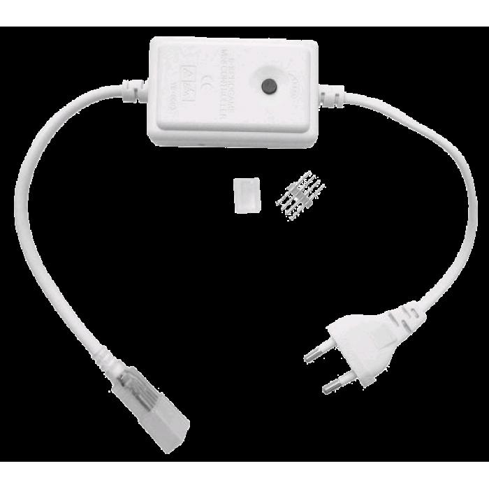 Alimentator + controller banda LED RGB cu stecher, 220V