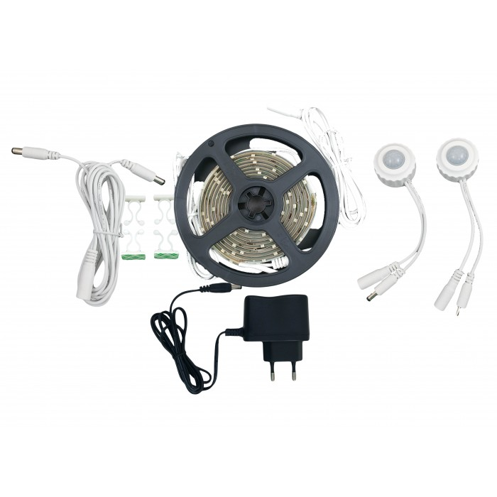 Kit Banda LED 2x1.5M/4000K/12V + 2 Senzori 180°