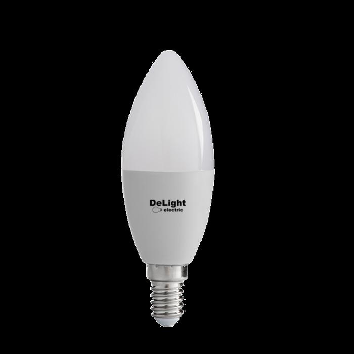 Bec Led Lumanare E14, model C37, 9W=80W, 2700K, lumina calda