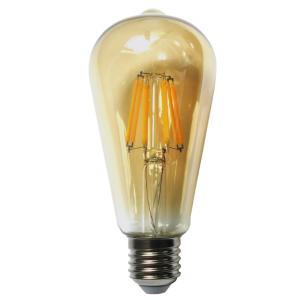 Bec LED Filament Amber E27/4W/480LM/2500K ST58