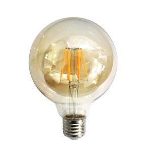 Bec LED Filament Amber E27/4W/480LM/2500K G95