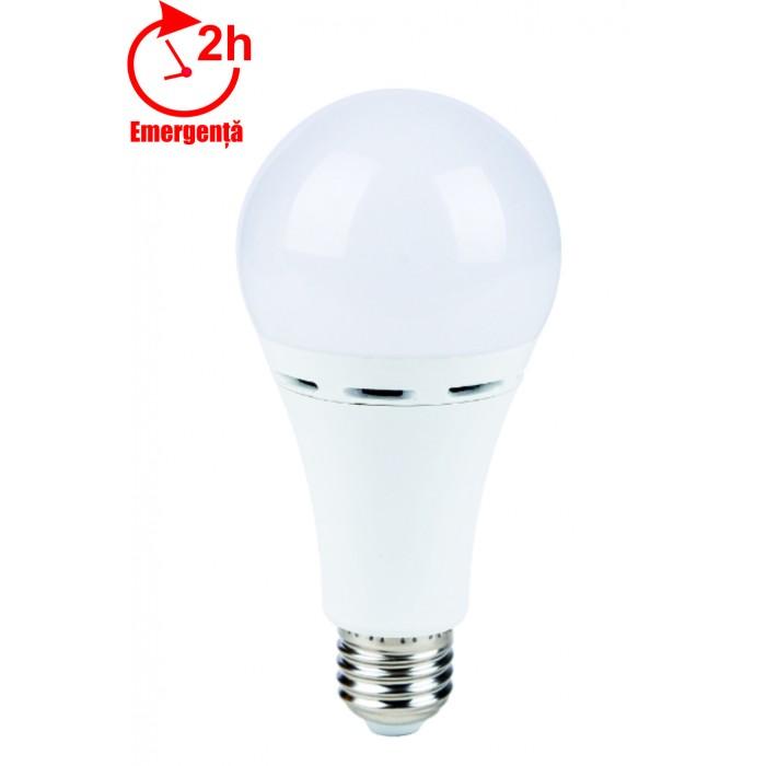 Bec LED emergenta, model glob A70, 10W=85W, 750Lm, 6400k, lumina rece