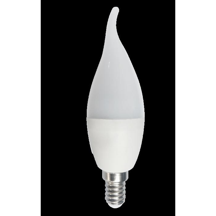 Bec Led Lumanare Flama E14, model C35, 7W= 60W, 2700K, lumina calda