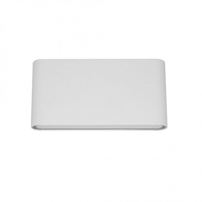 Aplica LED de exterior extra-plata, 12W=75W, 3000K, lumina calda, 1080Lm, IP65