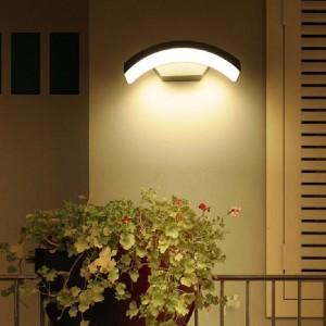 Aplica LED de exterior bumerang, 24W=160W, 3000K, lumina calda, 2160Lm, IP65