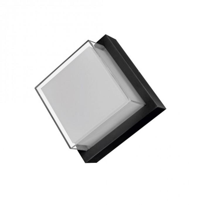 Aplica LED de exterior, 160x160mm, 12W=75W, 3000K, lumina calda, 1080Lm, IP65