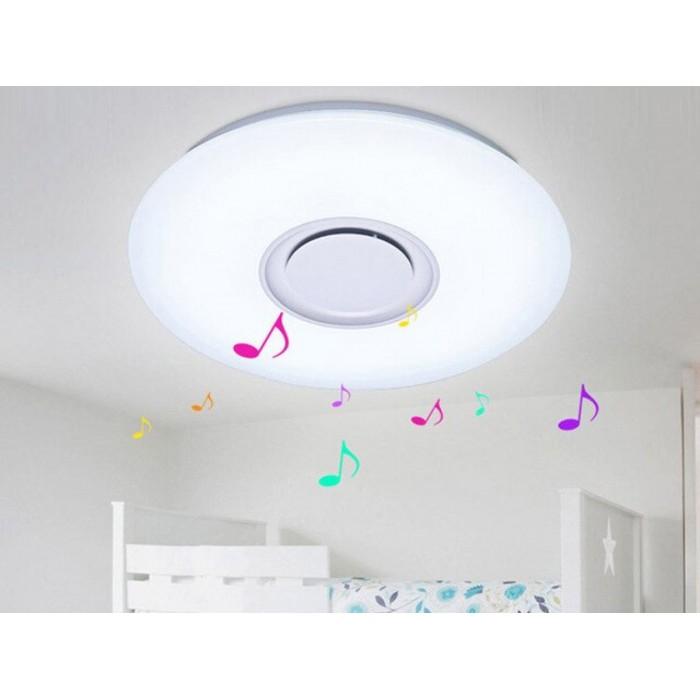 Plafoniera LED SMART cu muzica, Ø400, 24W, RGB+W