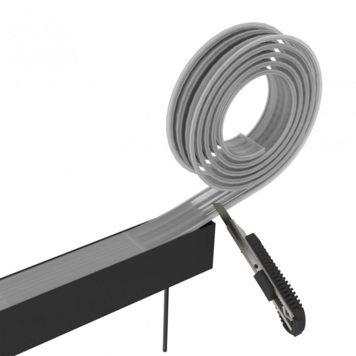 Dispersor lumina pentru corp LED liniar interconectabil