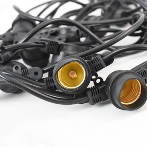 Ghirlanda luminoasa, 10m, interconectabil, E27, IP65, 10m