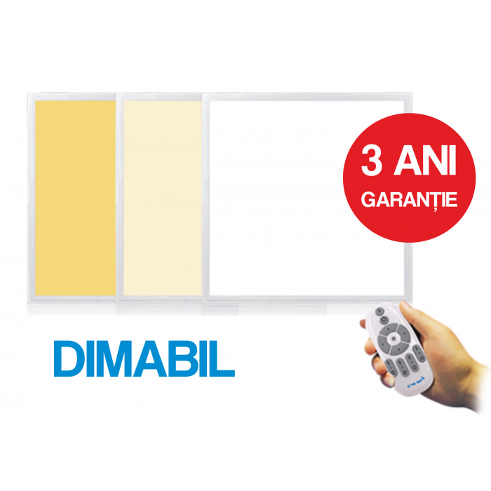 Panou Led Dimabil 595X595X10mm, 2-36W, 3000/4000/6000k