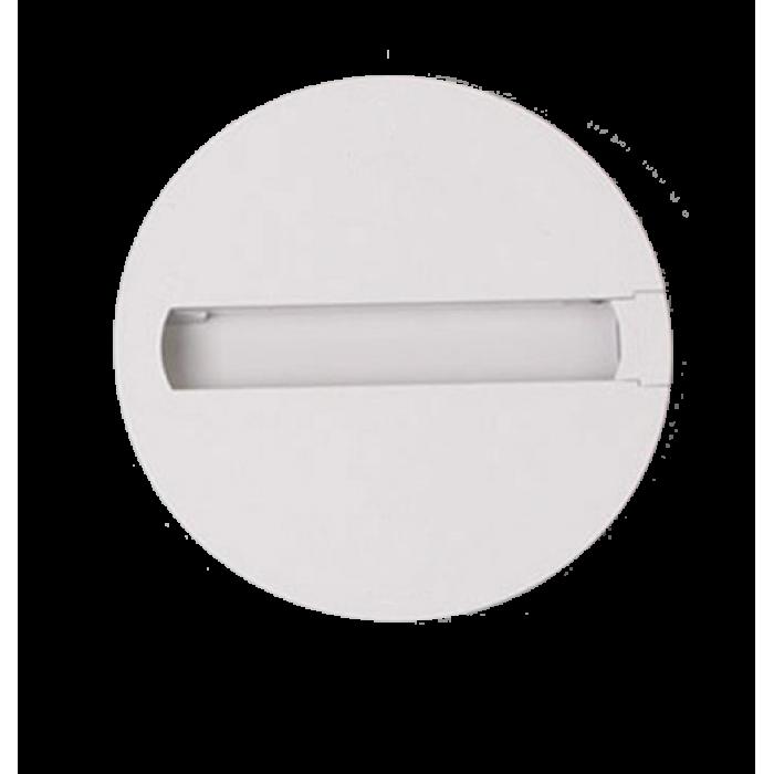 Baza rotunda pentru spot LED T3, alba