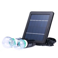 Kit 2xBec Led 3W Cu Panou Solar