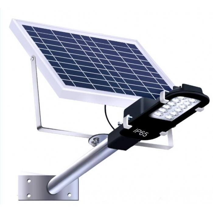 Corp Stradal Cu Panou Solar cu telecomanda, 15W