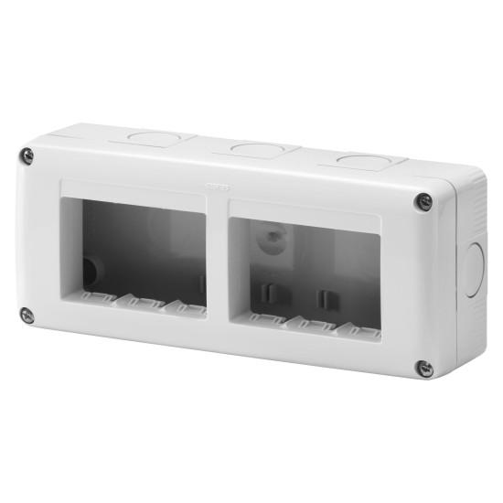 Rama Aplicata pe tencuiala Gewiss, 6 module GW27005 - montaj aplicat