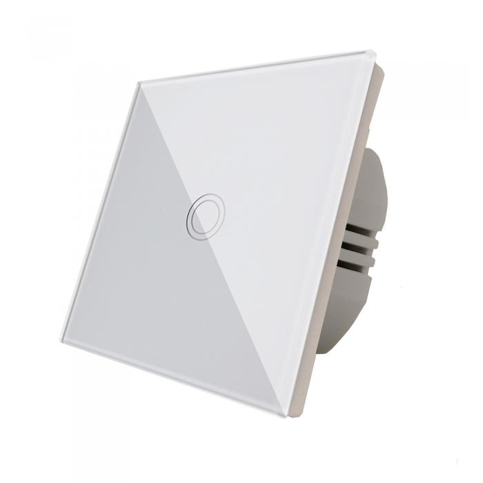 Intrerupator touch simplu, alb