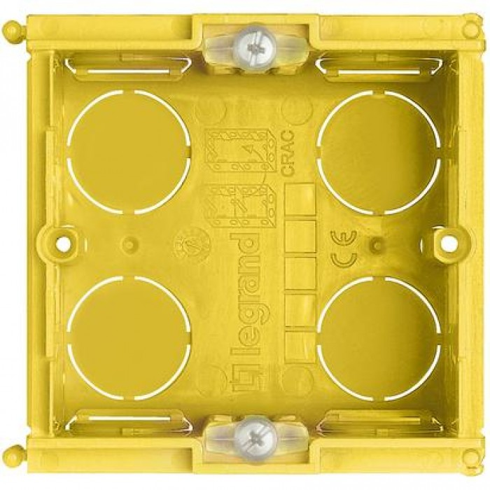 Doza aparat, patrata bticino 502E - 2 module - montaj sub tencuiala