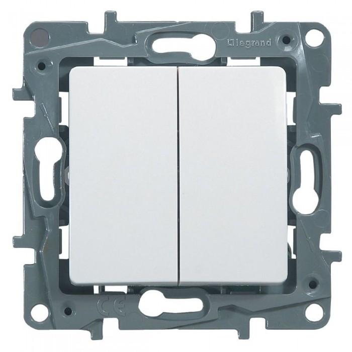 Intrerupator dublu 10A Legrand Niloe 664506 - 1 modul