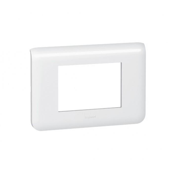 Rama intrerupator alba Legrand Mozaic 078803 - 3 module