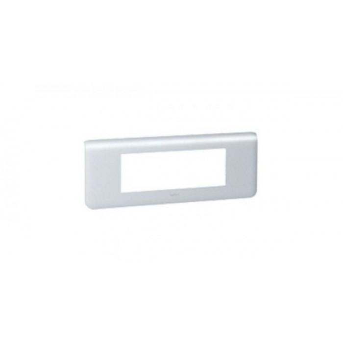Rama intrerupator aluminiu Legrand Mozaic 079016 - 6 module