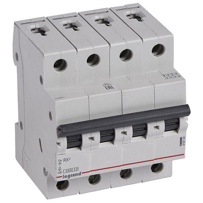 Siguranta automata (disjunctor) 4P/C/40A/4.5KA Legrand 419745