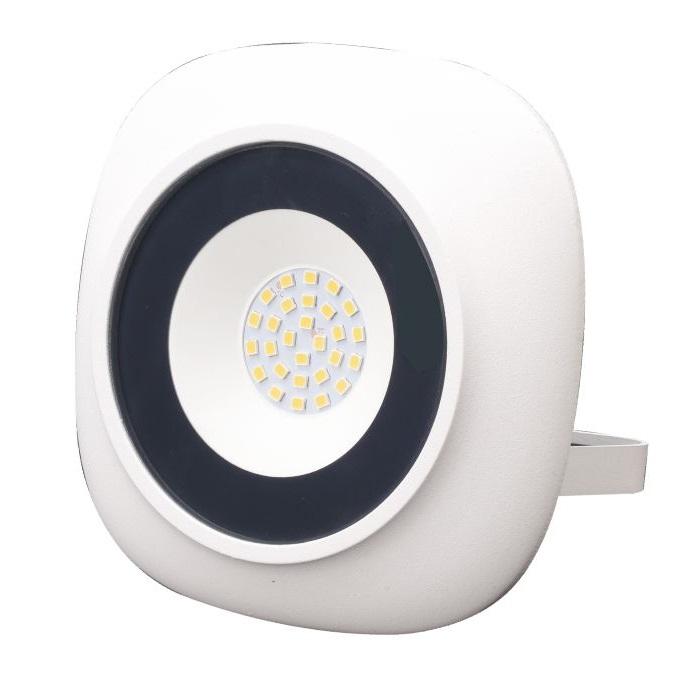 Proiector LED rotund SMD Iris, 20W=100W, 1800Lm, 6400K, lumina rece, alb