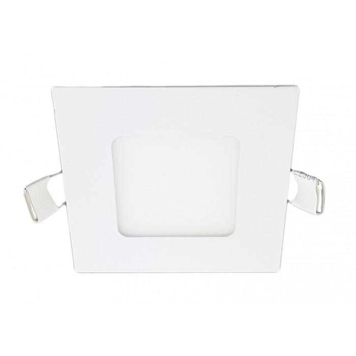 Spot Led Slim Patrat, 85x85 mm, 3W=25W, 2700K, lumina calda