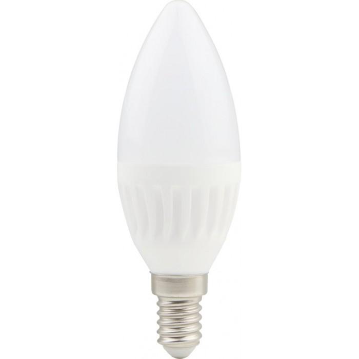 Bec LED lumanare cu baza din ceramica, model C37, 9W=75W, 6400K, lumina rece, dulie E14