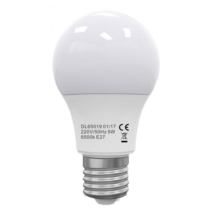 Bec Led E27, model glob A60, 9W=75W, 2700K, lumina calda, ore functionare 15.000