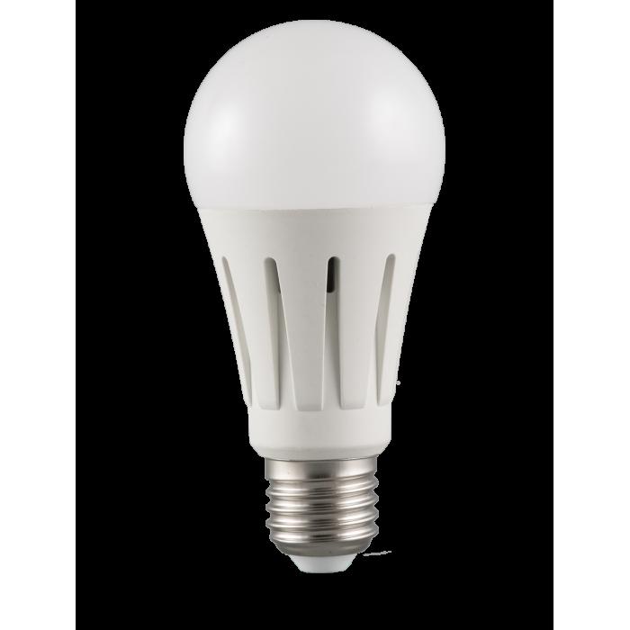 Bec Led E27, model glob A60, 15W=250W, 2700K, lumina calda
