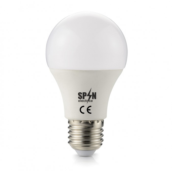 Bec Led E27, model glob A60, 6W=45W, 6400K, lumina rece, 24V DC, 420Lm