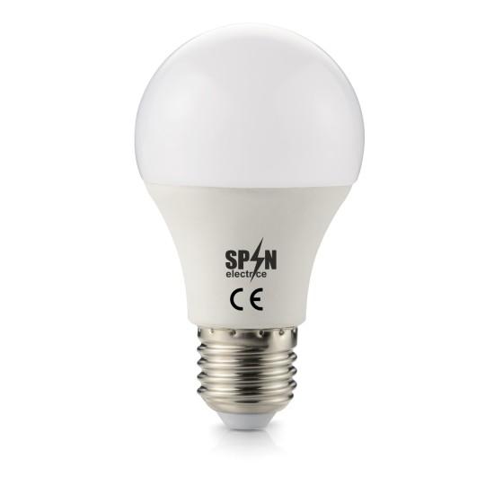 Bec Led E27, model glob A60, 12W=100W, 6400K, lumina rece, 1080Lm