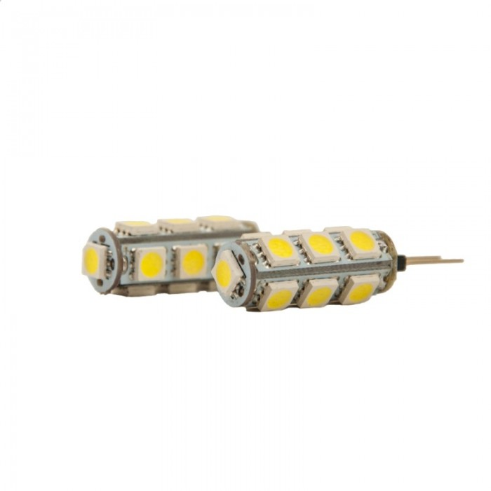 Bec Led model G4, 3.2W=20W, 12V, 2700K, lumina calda - set 2 Buc