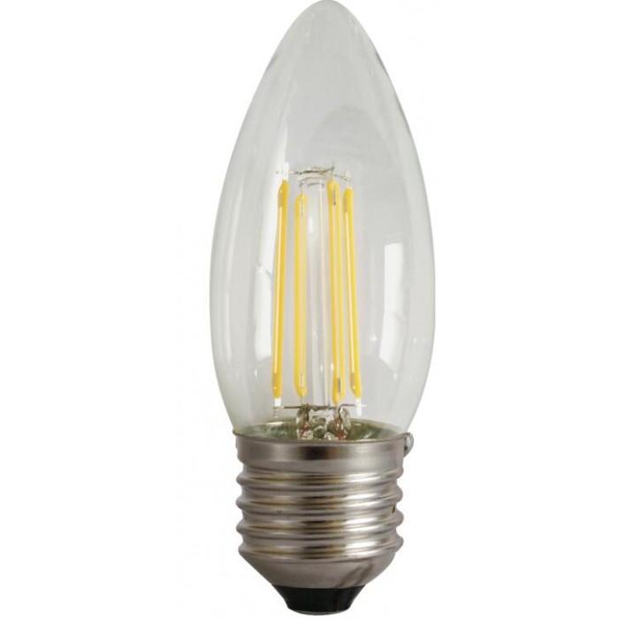 Bec Filament Lumanare E27, 4W=45W, 6500K, lumina rece, 480Lm