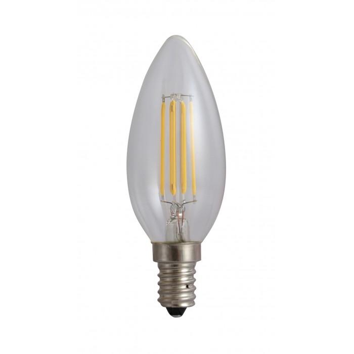 Bec Filament Lumanare E14, 4W=45W, 3000K, lumina calda