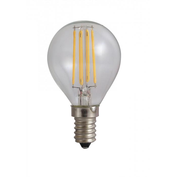 Bec Filament Sferic E14, 4W=45W, 6500K, lumina rece