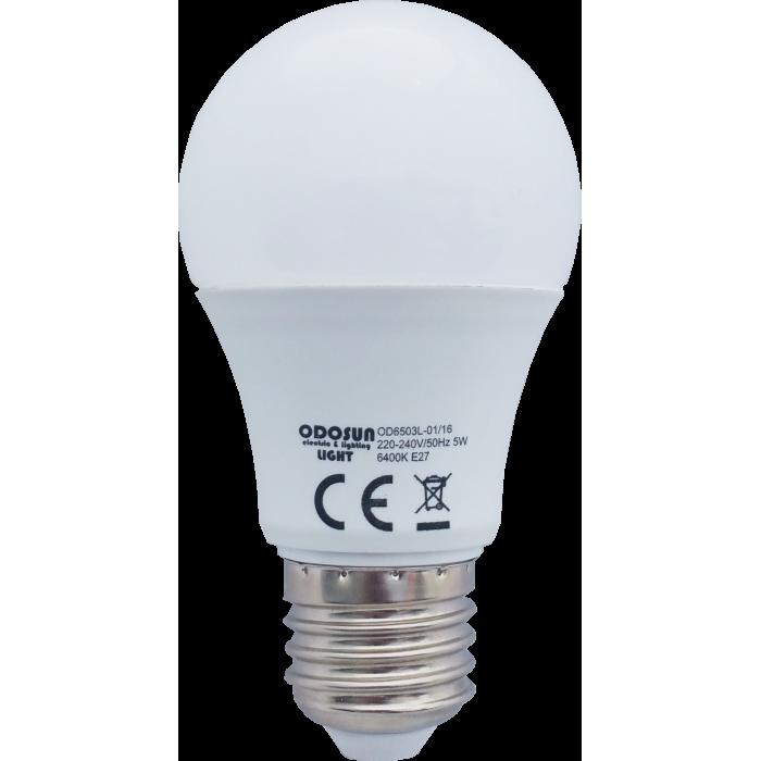 Bec Led E27, model glob A55, 5W=45W, 2700K, lumina calda