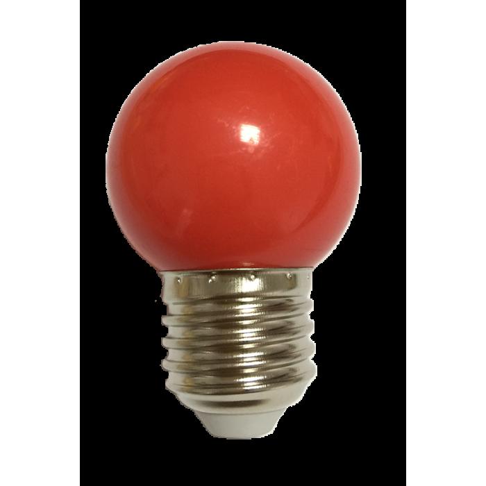 Bec LED G45 rosu