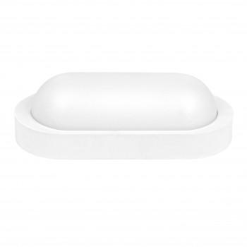 Aplica LED BAT Ovala 10W=90W, 3000K, lumina calda, cu protectie IP65